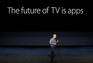 Apple CEO TIm Cook speaks about Apple TV during an Apple media event in San Francisco, California, September 9, 2015. Reuters/Beck Diefenbach